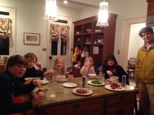 all 7 for dinner